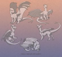 Pern Dragons - Baby set by mirroreyesserval