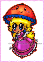 Chibi Peach by NatSilva