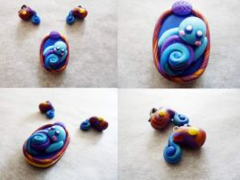 Polymer Clay Aquarius Pendant by Saru-Hime