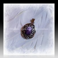 'Eyes on me' silver pendant (for sale) by seralune