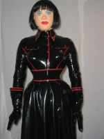 Rubber military outfit by Rubberdollyxx