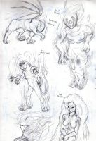 Marolith creature concepts... by ErnCer