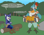 Ember and Kass - Commission by W0lfmare