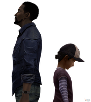 Lee and Clementine The Walking Dead by Hatredboy