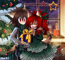 Merry Christmas 2013 by Chibi-Nuffie