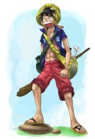 Adventure suit Luffy by Donffy
