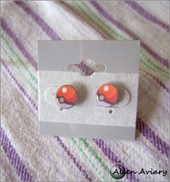 Pokeball Earrings by alienaviary