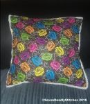 Gothic Colour Rose and Thorn Cushions by SevenDeadlyStitches