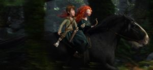 Cabalgando - Riding [Hiccup x Merida] by oliverespectro