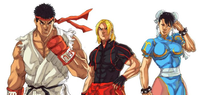 Street Fighter V - Ryu, Ken, Chun-li by Mick-cortes