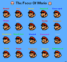 Mario Faces by r55omega