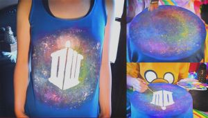 DIY: Doctor Who, Galaxy, Nebula tank top tutorial by Cuilwarthien666