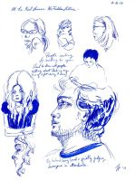 Neil Gaiman lecture sketches by trickypink