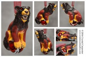 Shisa Ornament - Gevurah by soulofwinter
