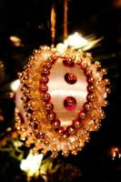 Sequin Beaded Ornament by LDFranklin