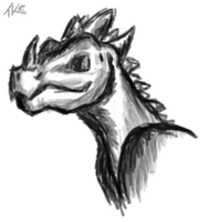 Dragon Sketch by ToxicKittyCat