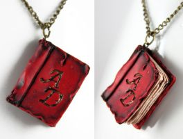 Personalized Red Beloved Book by NeverlandJewelry