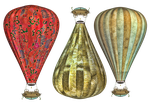 Steam Balloon PNG Stock by Roys-Art