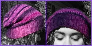 Purple Beanie by StaceyQuay