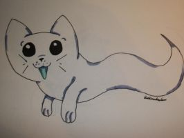 Ghostie the Ghost cat by L-A-B-R-A-D-O-R