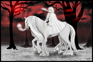 Odin and Sleipnir by SiofraTural