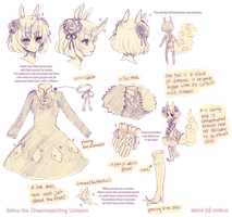 OCs -- Seine reference sheet by onisuu