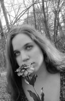 her petals - BW by LAPoetry-n-Photo