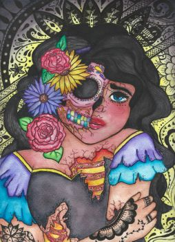 Day of the dead Girl by Blackswan2714