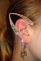 green elven earcuff pair by rain2shine