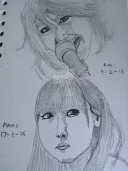 AIMI and MAMI sketches by RedTreeInTheGreen