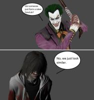 Injustice: The Joker vs Jeff the Killer by xXTrettaXx