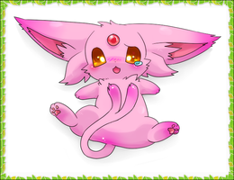 Espeon para glacirocks :D! by humphreywolf2012