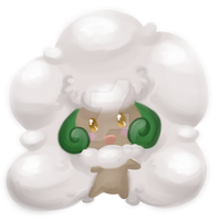 Fluffy Whimsicott by Melody-Kitn