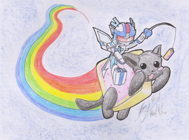 NyanCat Slash by Sidian07