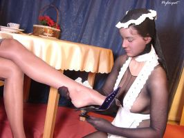 Dee and Nadine Nylon Maid Service 3 by crazy6666