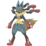 Mega Lucario Pixel-Over by StarLegend
