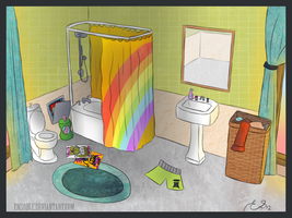 The bathroom by Emsoble