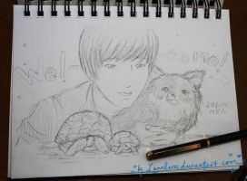 Yesung pet family~ by Lanaleiss