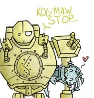 Blitzcrank and Kog'maw by JessyThePika
