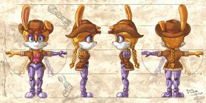 Bunnie D'Coolette model sheet by glitcher