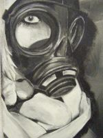 Gas Mask Painting by reprouve