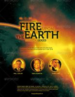 Fire Upon the Earth Church Flyer Template by loswl