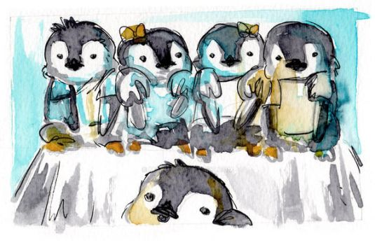 Baby Penguins by mayu