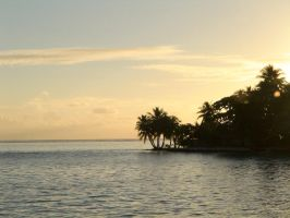 Sunset Tahaa Island French pol by dnbfilm