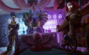 Creepy Clowns by iancjw