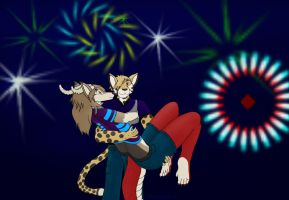 A Night under the Fireworks by NodLupetianWolf