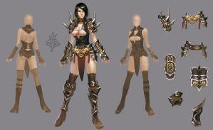 Armor Female 02 by ilison