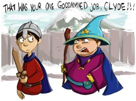 Seriously, Clyde? by desthpicable