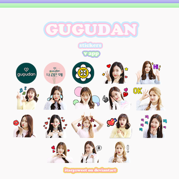 |GUGUDAN STICKERS| by fxrst-love