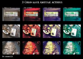 3 colourful grunge actions by cosboom